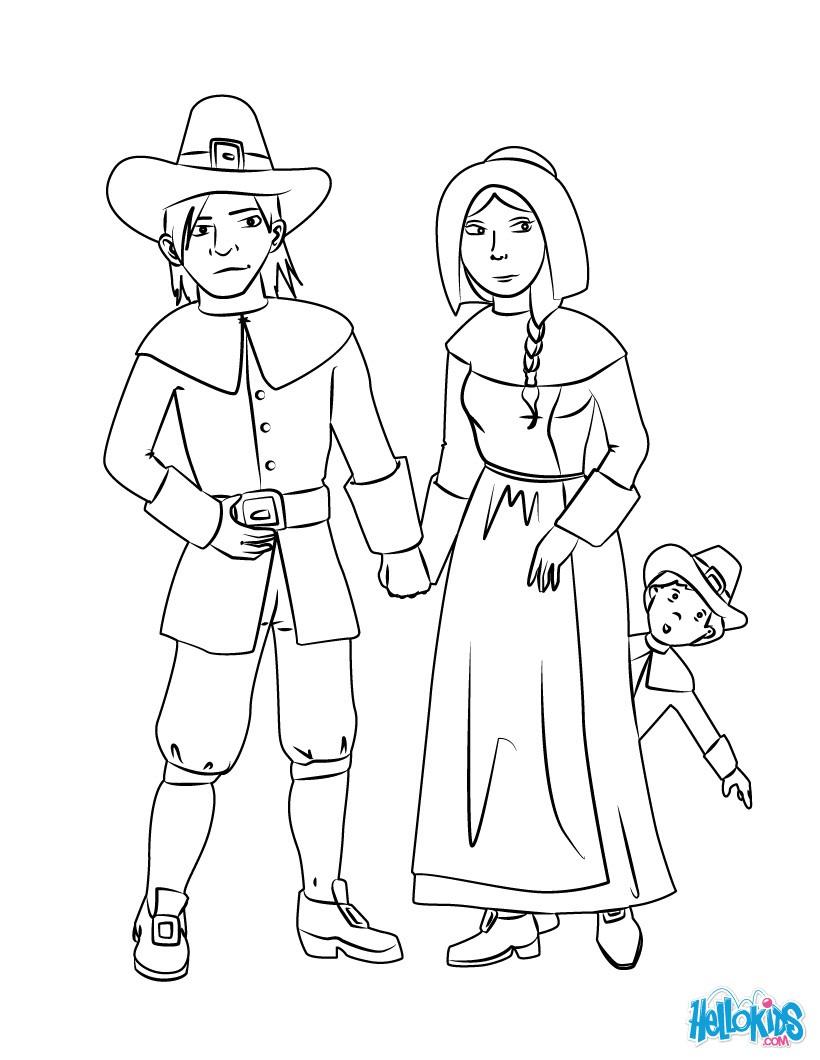 Pilgrim coloring #6, Download drawings