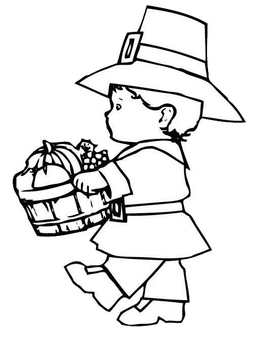 Pilgrim coloring #1, Download drawings