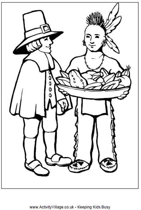Pilgrim coloring #7, Download drawings