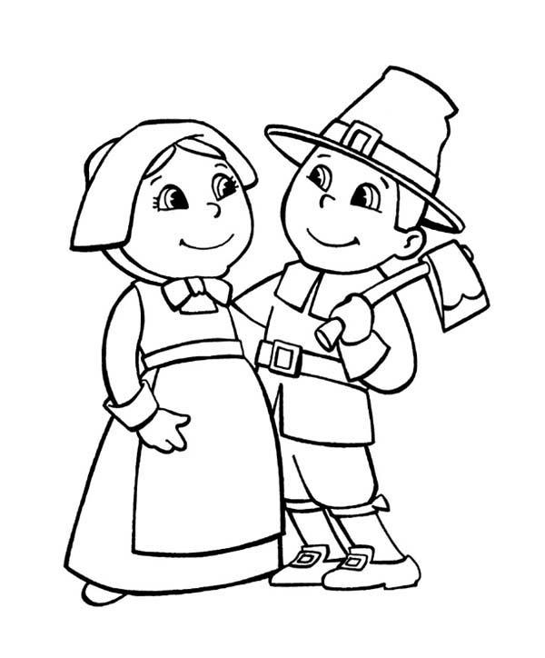 Pilgrim coloring #20, Download drawings