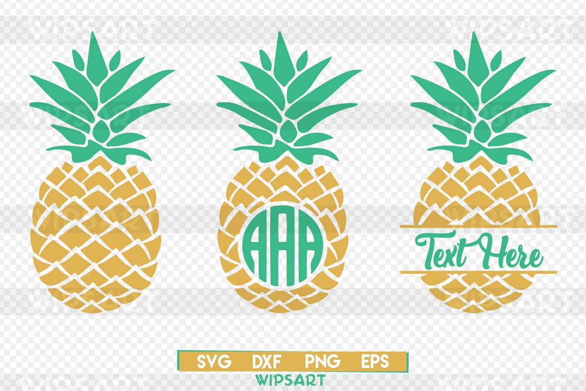 pineapple monogram svg free #281, Download drawings