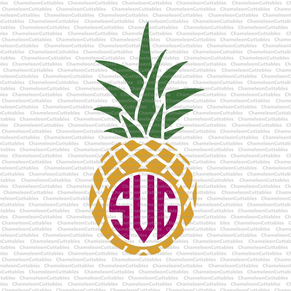 pineapple monogram svg free #279, Download drawings
