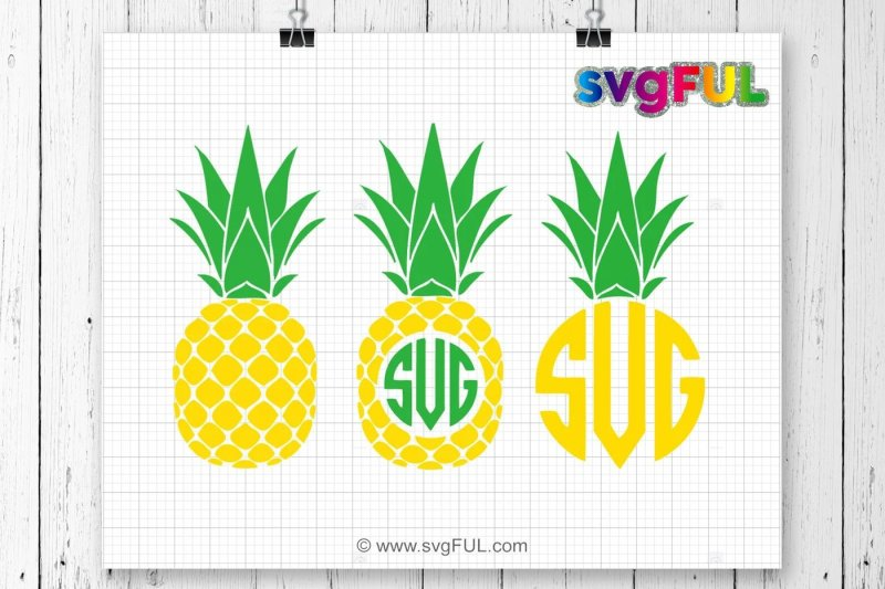 pineapple monogram svg free #280, Download drawings