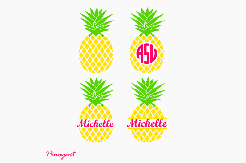 pineapple monogram svg free #278, Download drawings