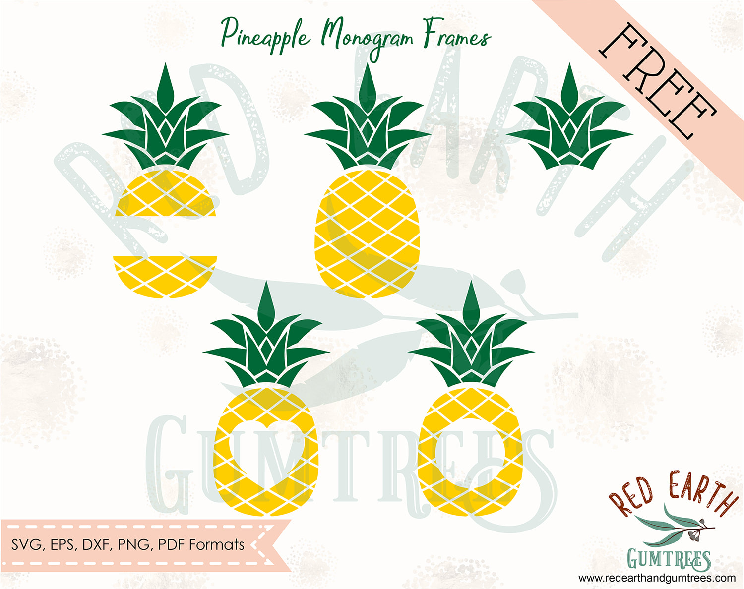 pineapple monogram svg free #271, Download drawings