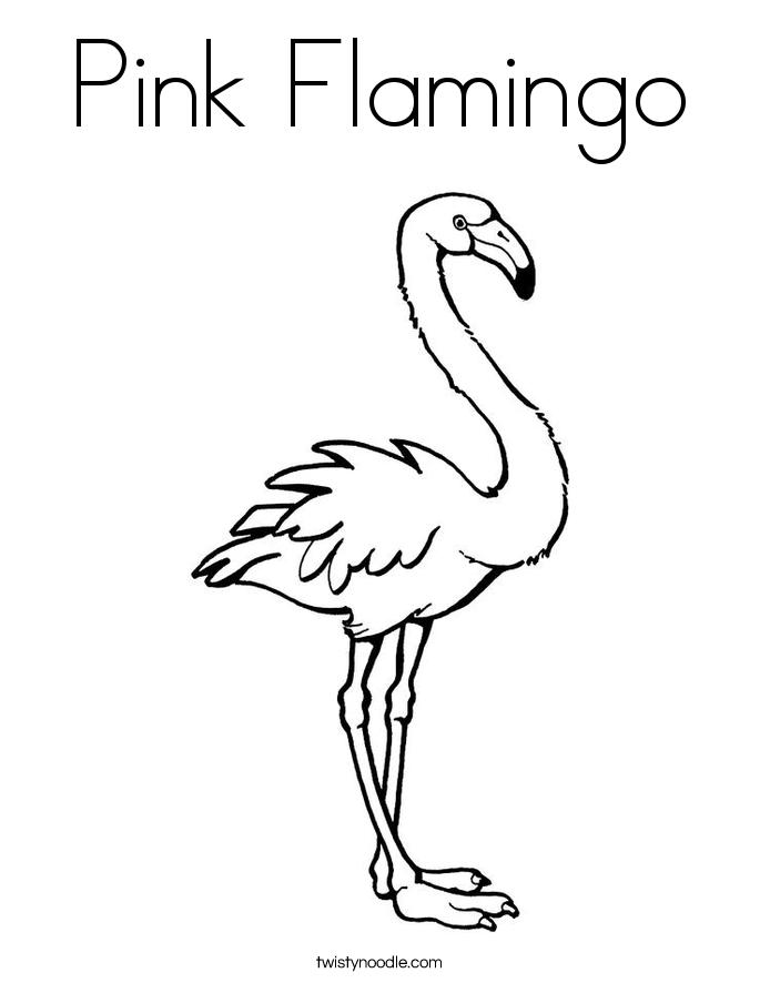 Flamingo coloring #19, Download drawings
