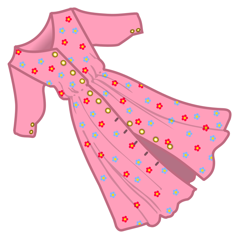 Pink Dress clipart #1, Download drawings