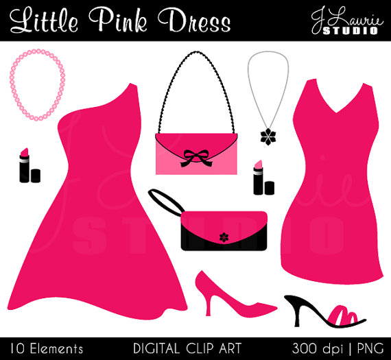 Pink Dress clipart #3, Download drawings