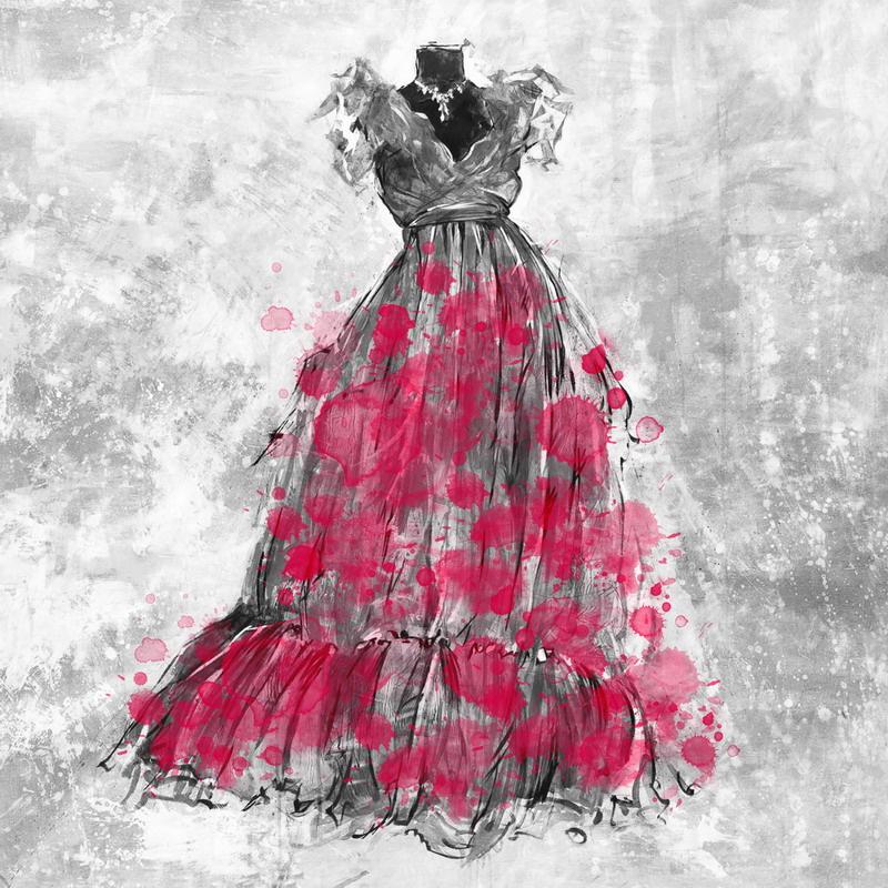 Pink Dress coloring #3, Download drawings