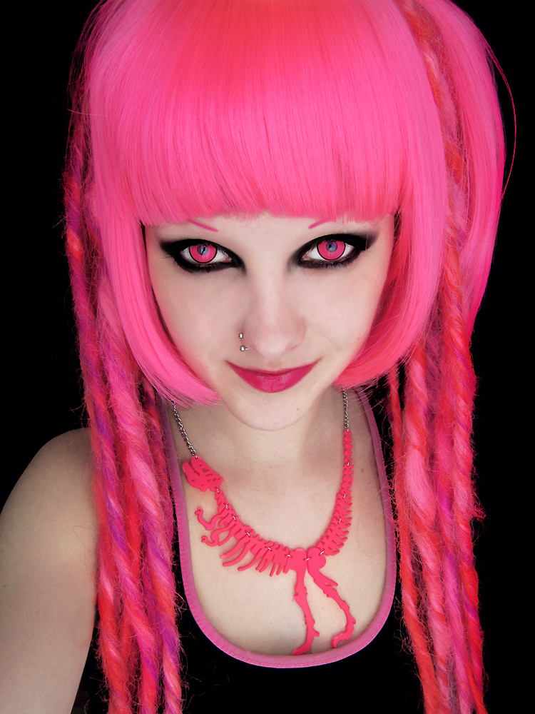 Pink Eyes coloring #2, Download drawings