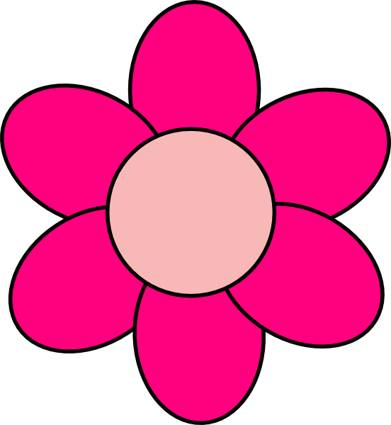 Pink Flower clipart #2, Download drawings