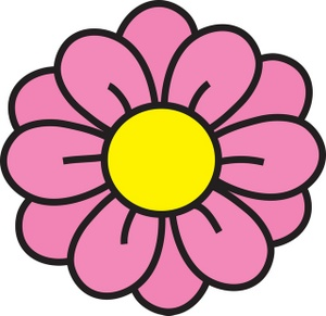 Pink Flower clipart #3, Download drawings
