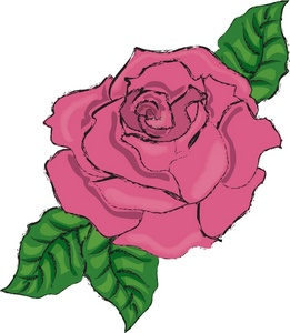 Pink Rose clipart #18, Download drawings