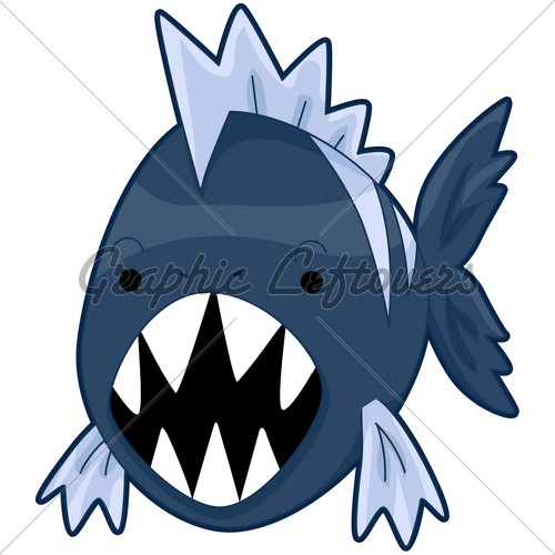 Piranha clipart #1, Download drawings