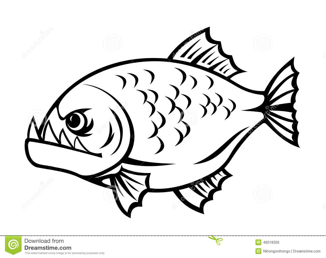 Piranha clipart #8, Download drawings