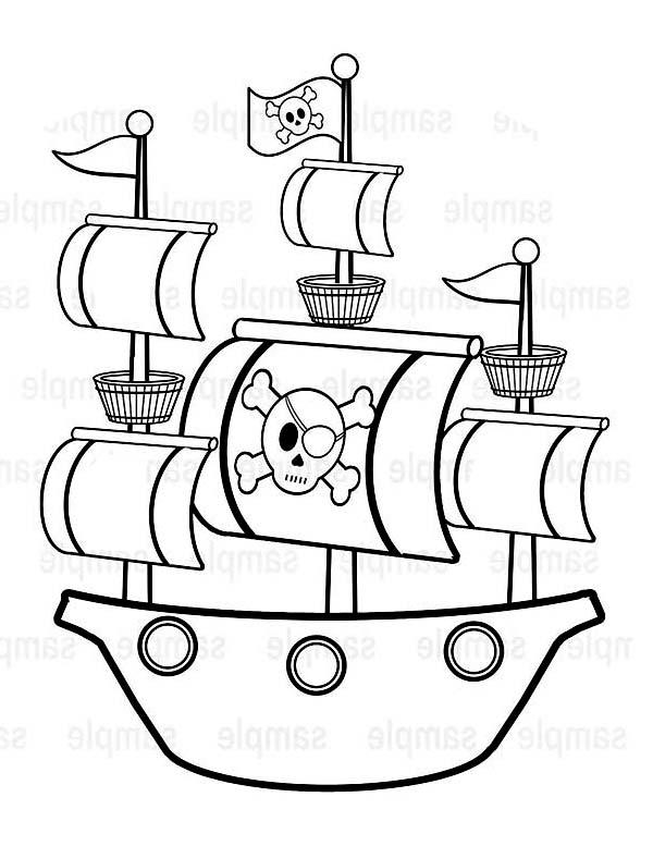 Pirate Ship coloring #1, Download drawings