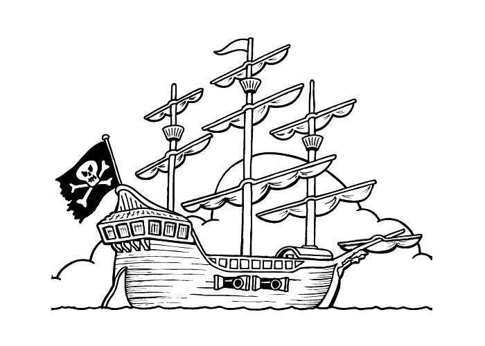 Pirate Ship coloring #6, Download drawings