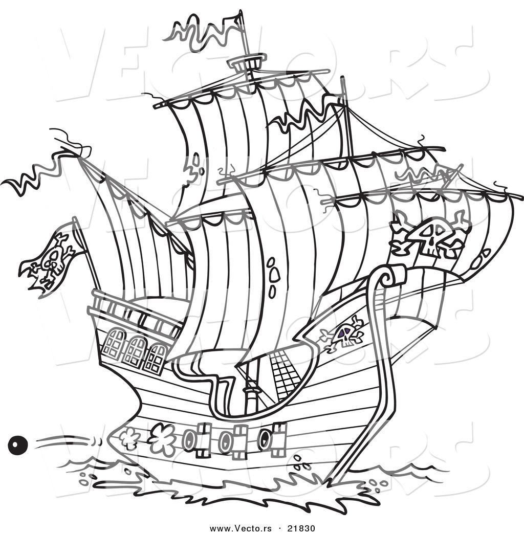 Pirate Ship coloring #11, Download drawings