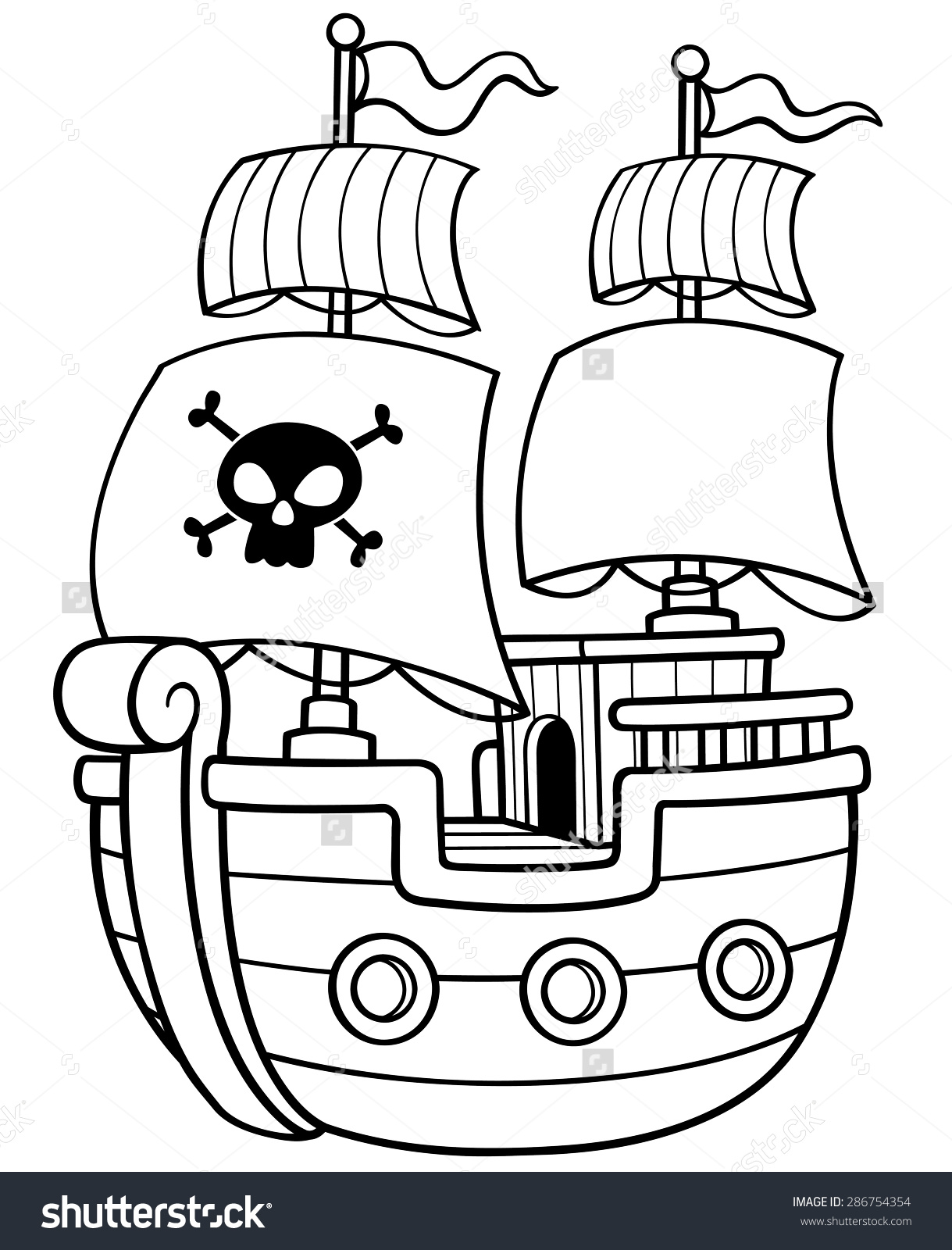 Pirate Ship coloring #9, Download drawings