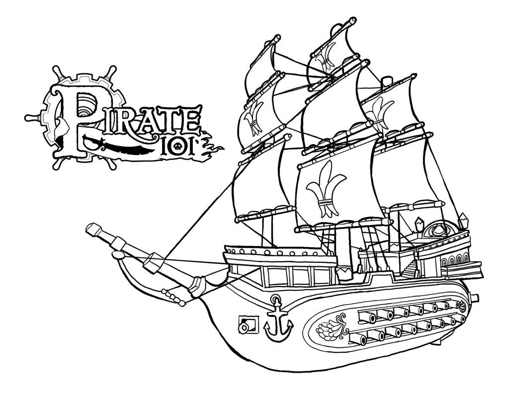 Pirate Ship coloring #13, Download drawings