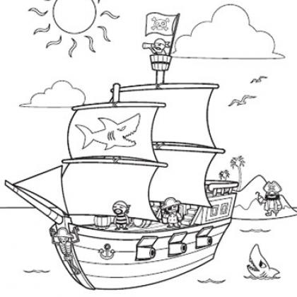 Pirate Ship coloring #12, Download drawings