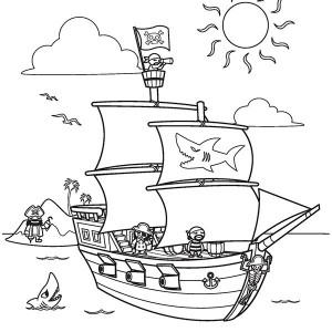 Pirate Ship coloring #14, Download drawings