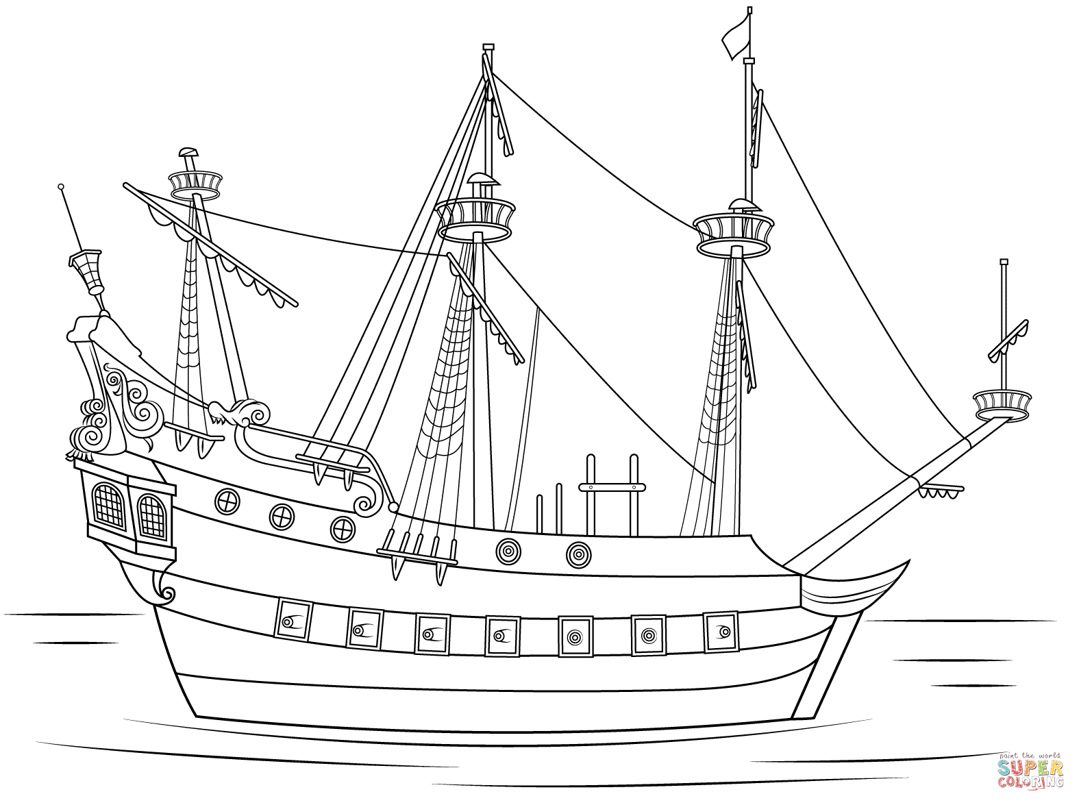 Pirate Ship coloring #15, Download drawings