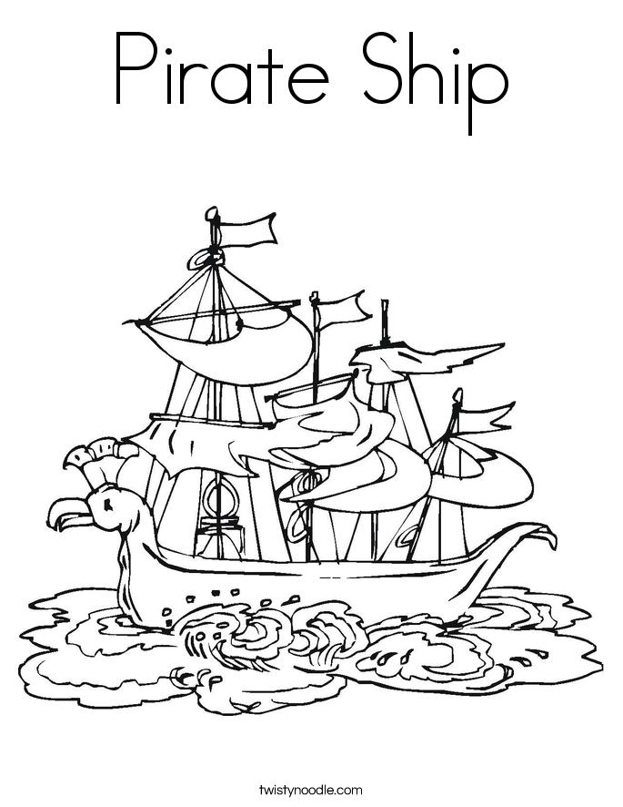 Pirate Ship coloring #18, Download drawings