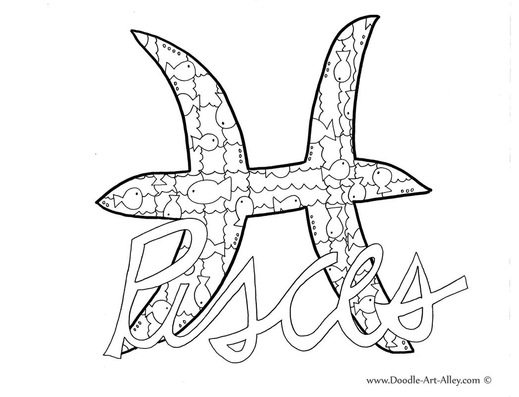 Pisces coloring #14, Download drawings