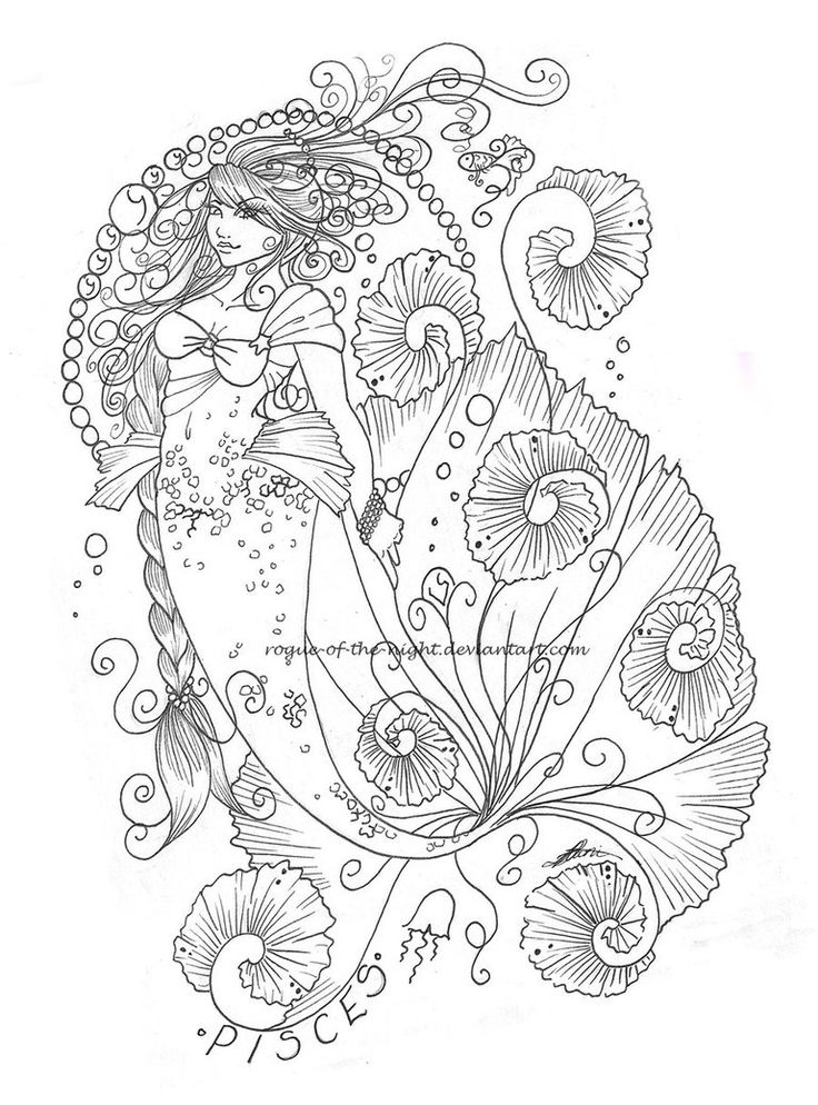 Pisces coloring #5, Download drawings