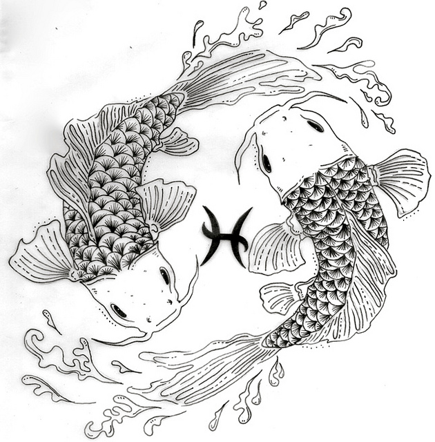 Pisces coloring #10, Download drawings