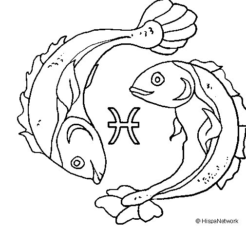 Pisces coloring #7, Download drawings