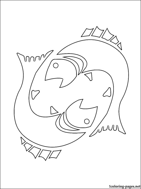 Pisces coloring #3, Download drawings