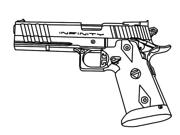 Pistol coloring #4, Download drawings