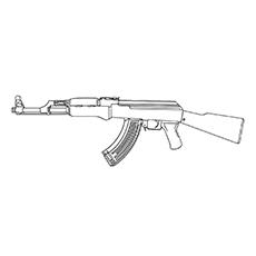 Pistol coloring #3, Download drawings