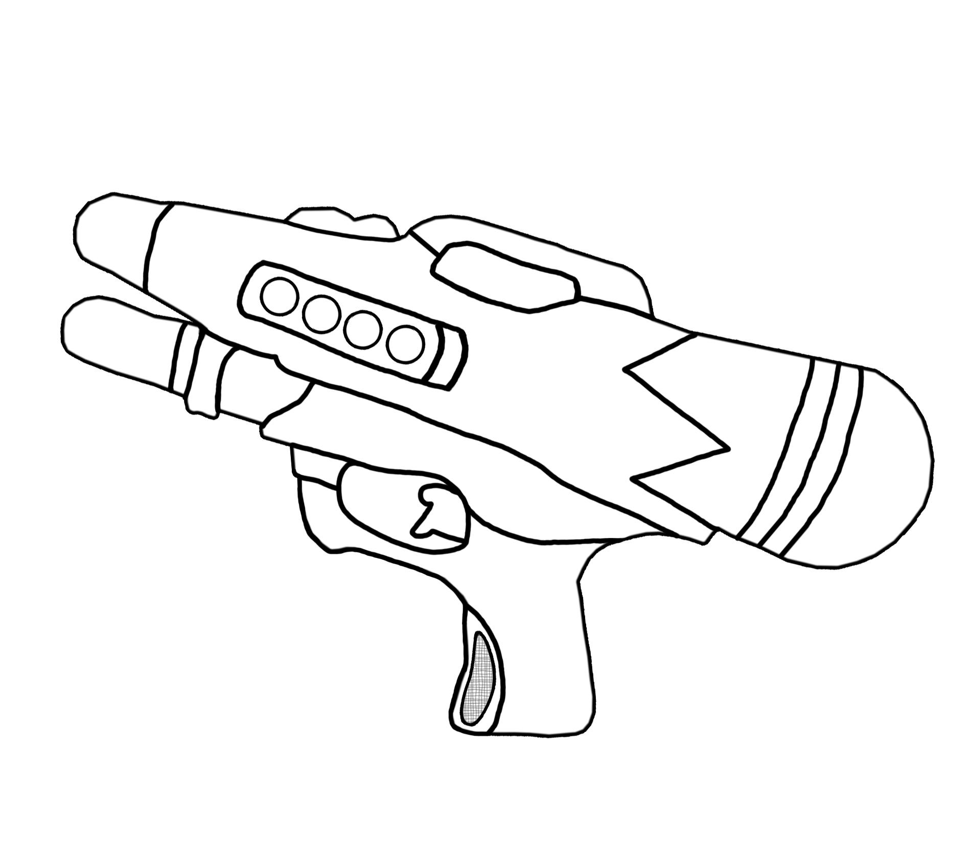 Pistol coloring #11, Download drawings