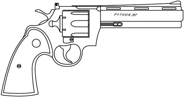 Pistol coloring #16, Download drawings