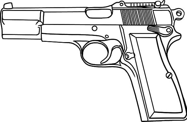 Pistol coloring #15, Download drawings
