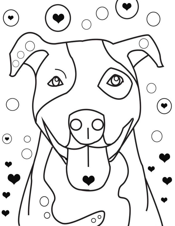 Pitbull coloring #5, Download drawings
