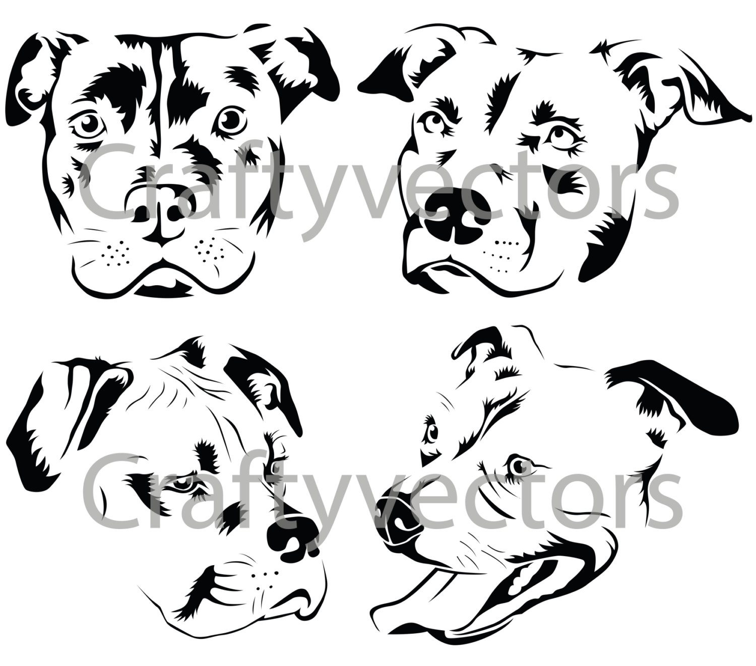 Pit Bull svg #1, Download drawings