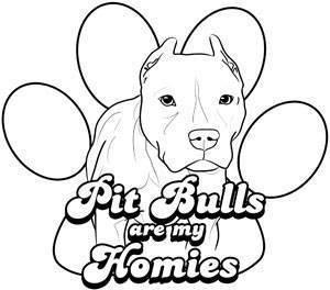 Pitbull coloring #15, Download drawings