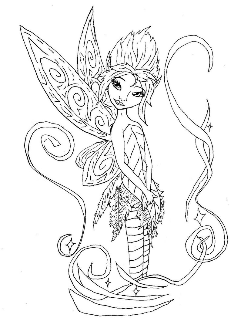 Pixie coloring #1, Download drawings
