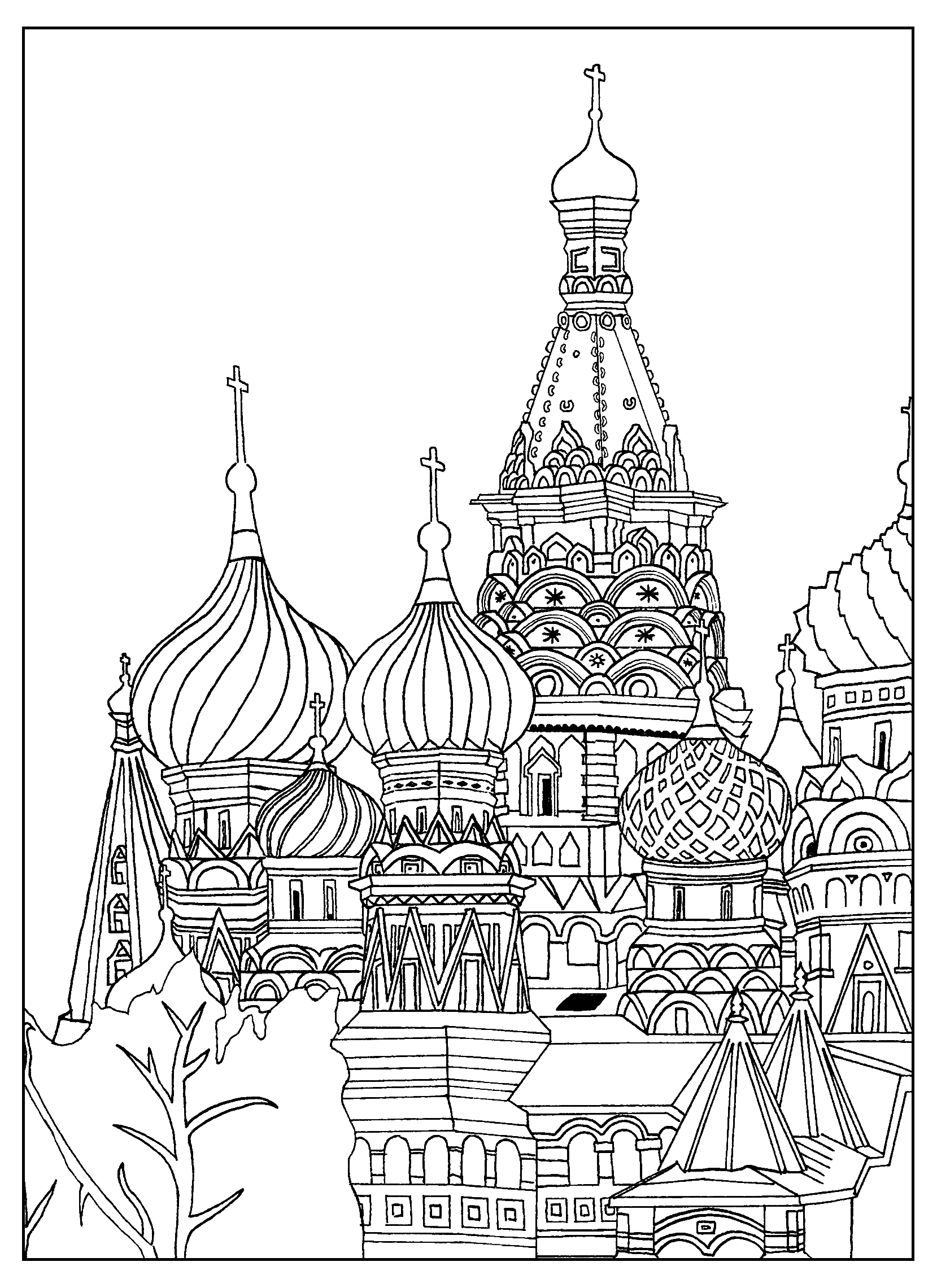 Place coloring #1, Download drawings