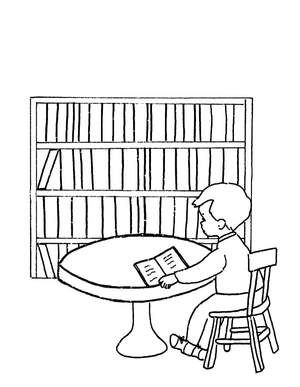 Library coloring #5, Download drawings