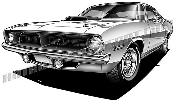 Plymouth Barracuda clipart #12, Download drawings