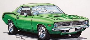 Plymouth Barracuda clipart #17, Download drawings