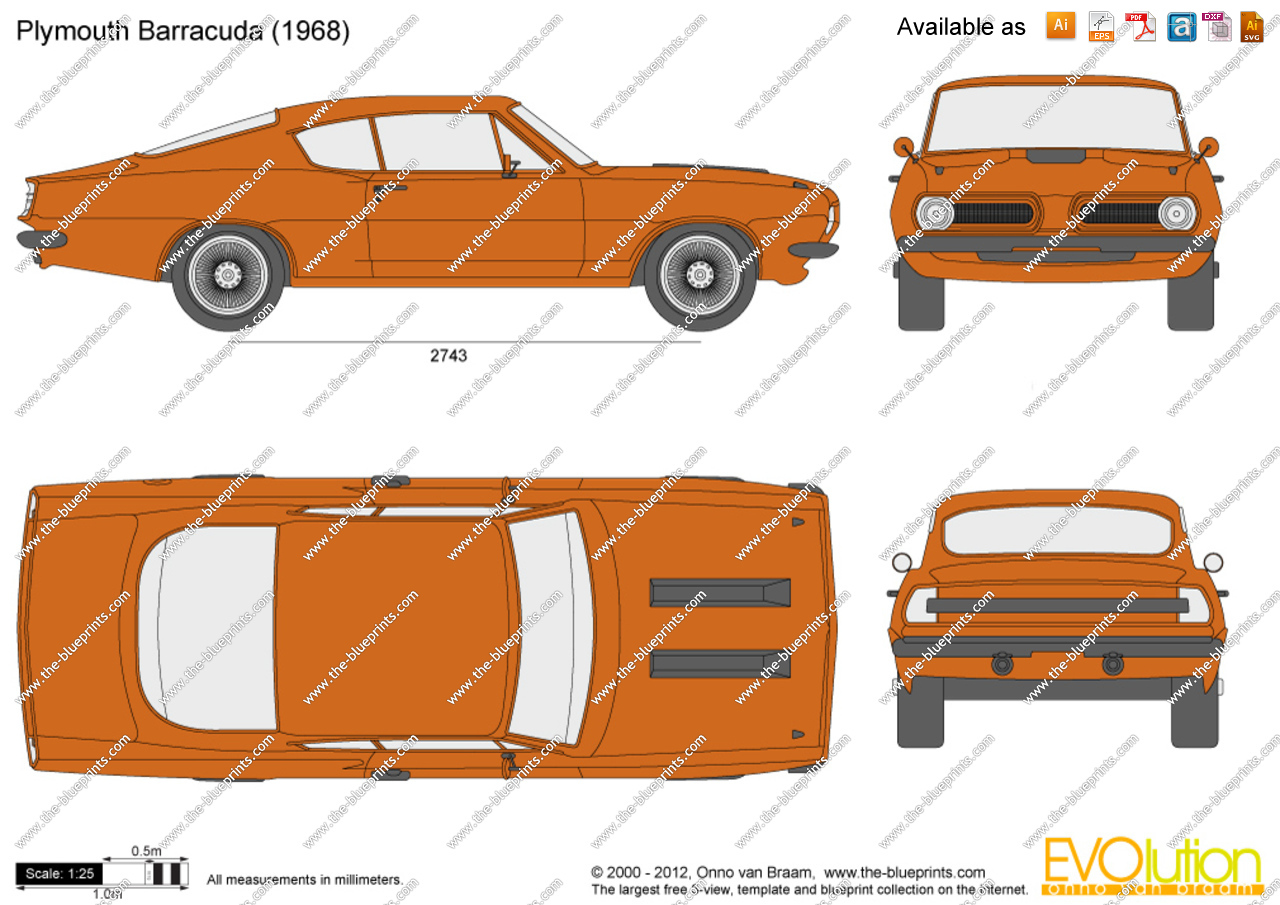 Plymouth Barracuda clipart #7, Download drawings