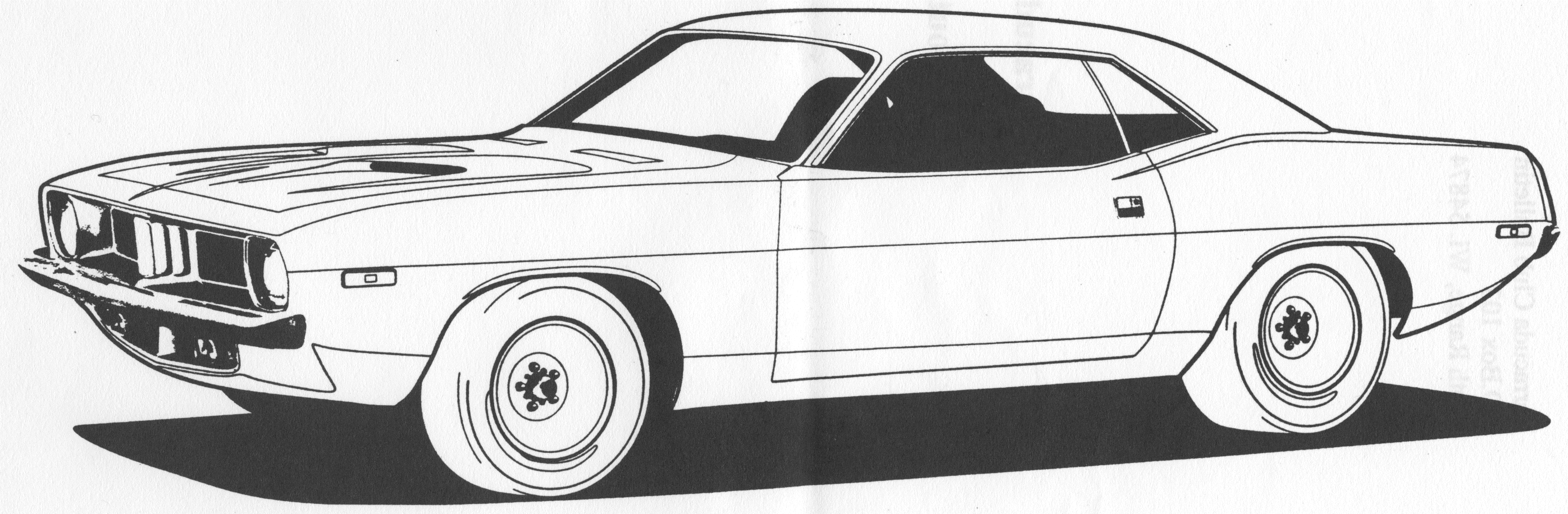 Plymouth Barracuda clipart #1, Download drawings