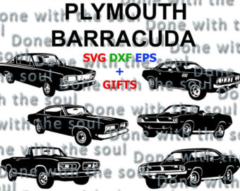 Plymouth Barracuda svg #20, Download drawings