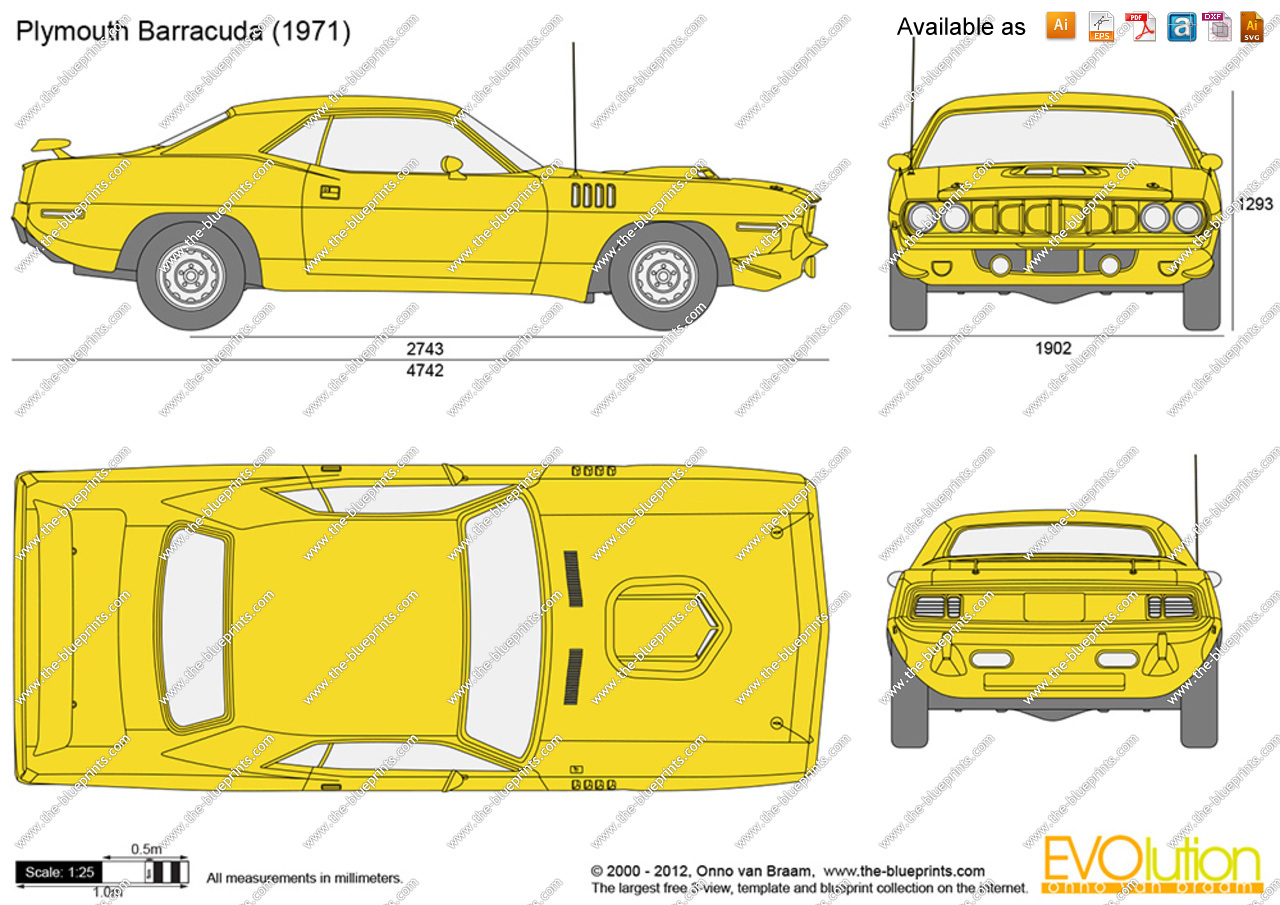 Plymouth Barracuda svg #12, Download drawings